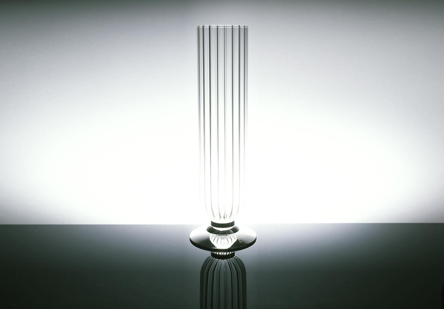 contemporary silverware - apollo vase silver and crystal contemporary silverware by martyn
