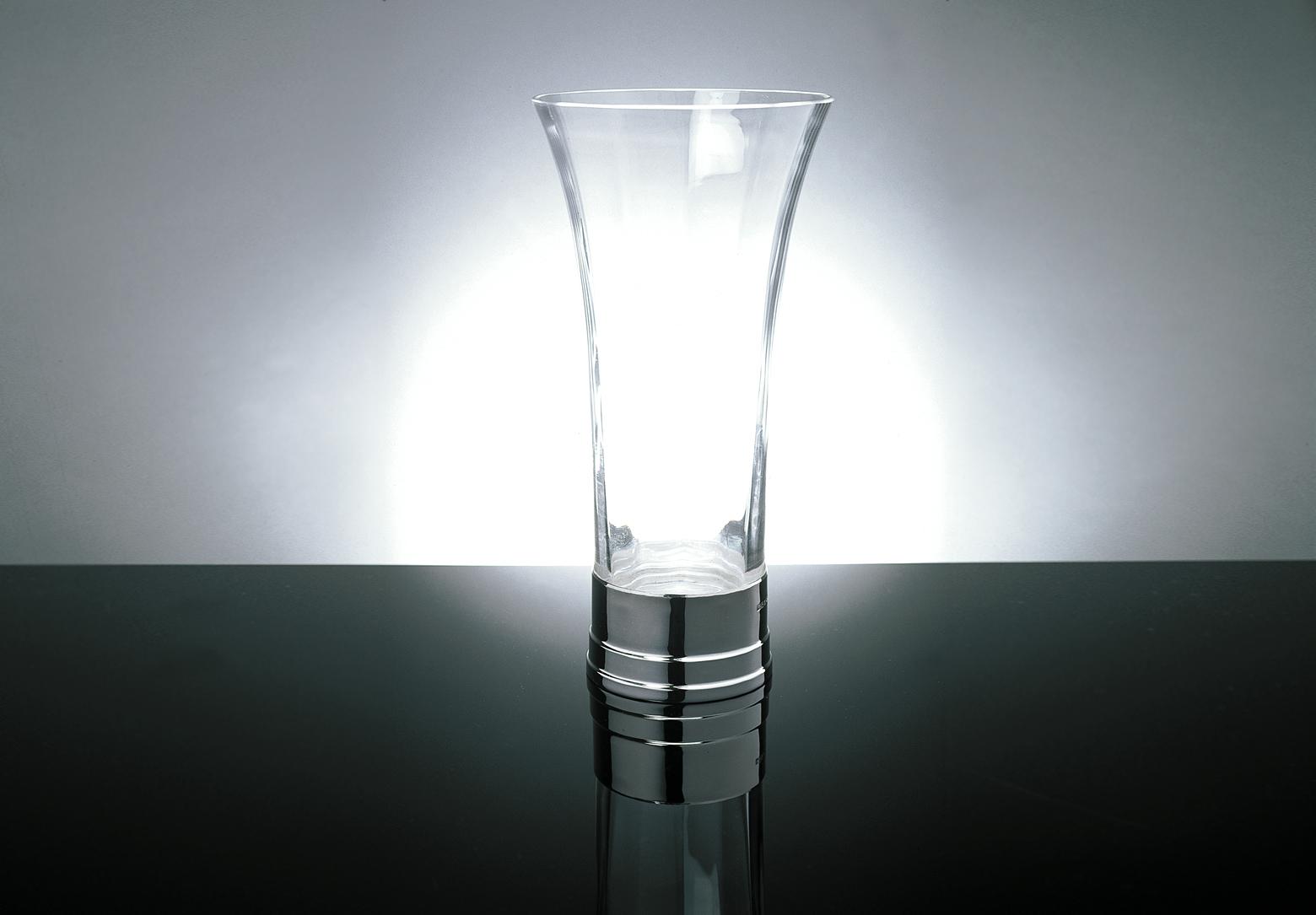 contemporary silverware - dome vase silver and crystal contemporary silverware by martyn