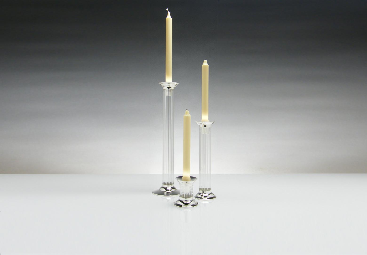 contemporary silverware - flute' group candlesticks contemporary silverware by martyn pugh
