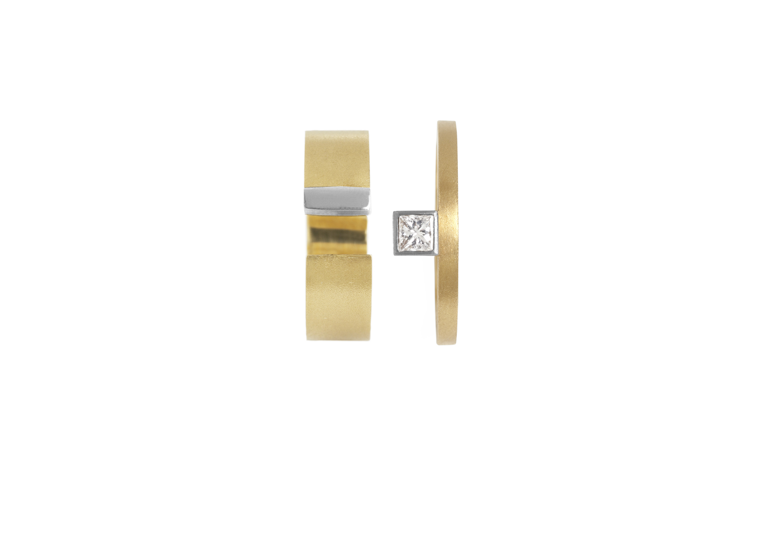 Preva Slide Square Diamond Ring