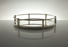 silver gallery rail tray