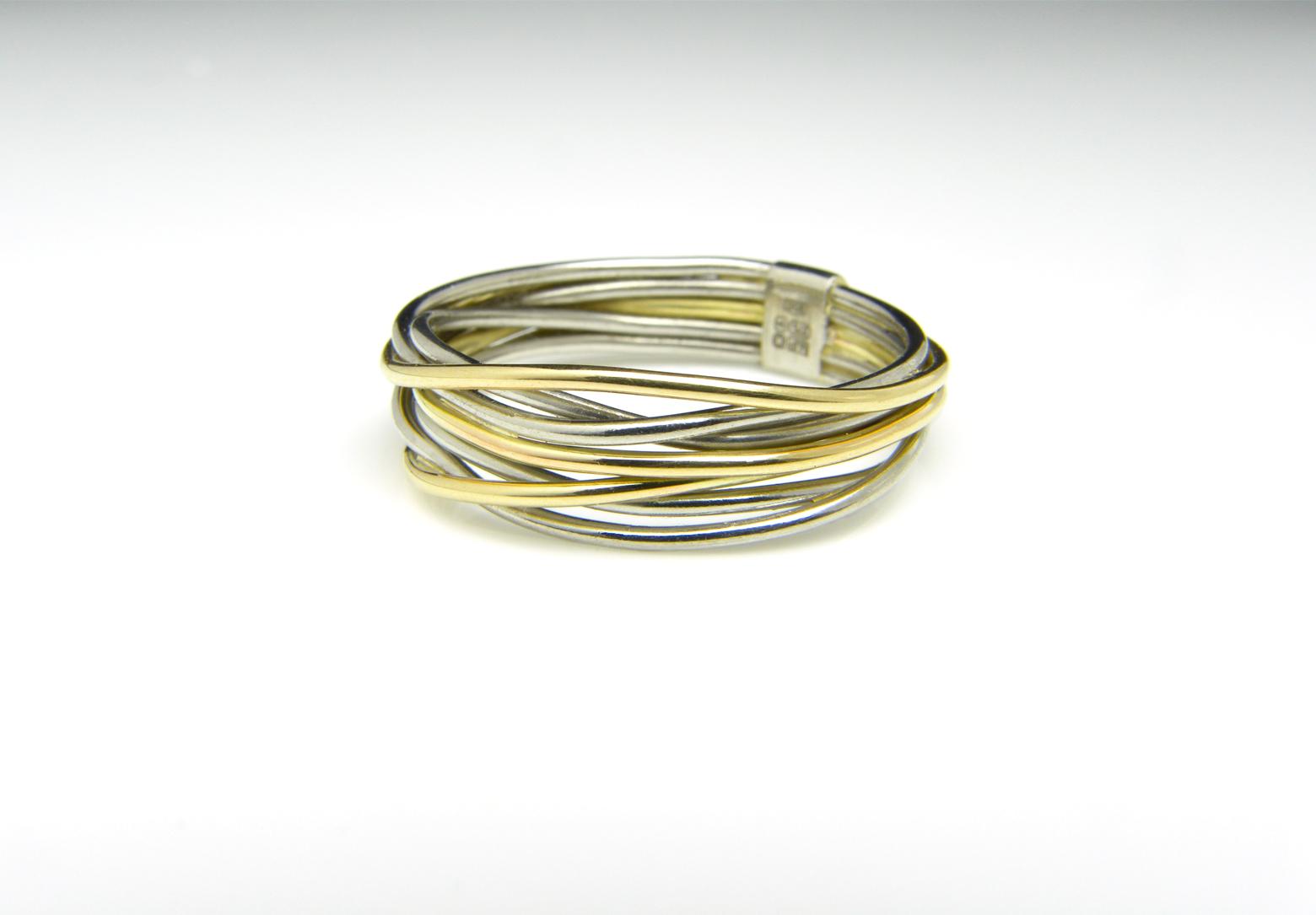Flow Platinum & Gold Ring