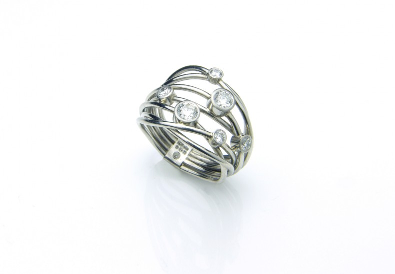 Flow Platinum & Diamond Ring
