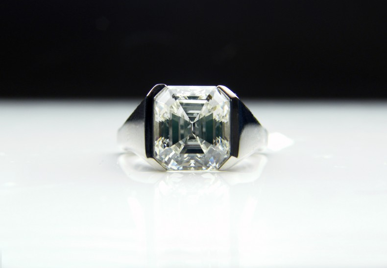 3ct Emerald-Cut Diamond Ring
