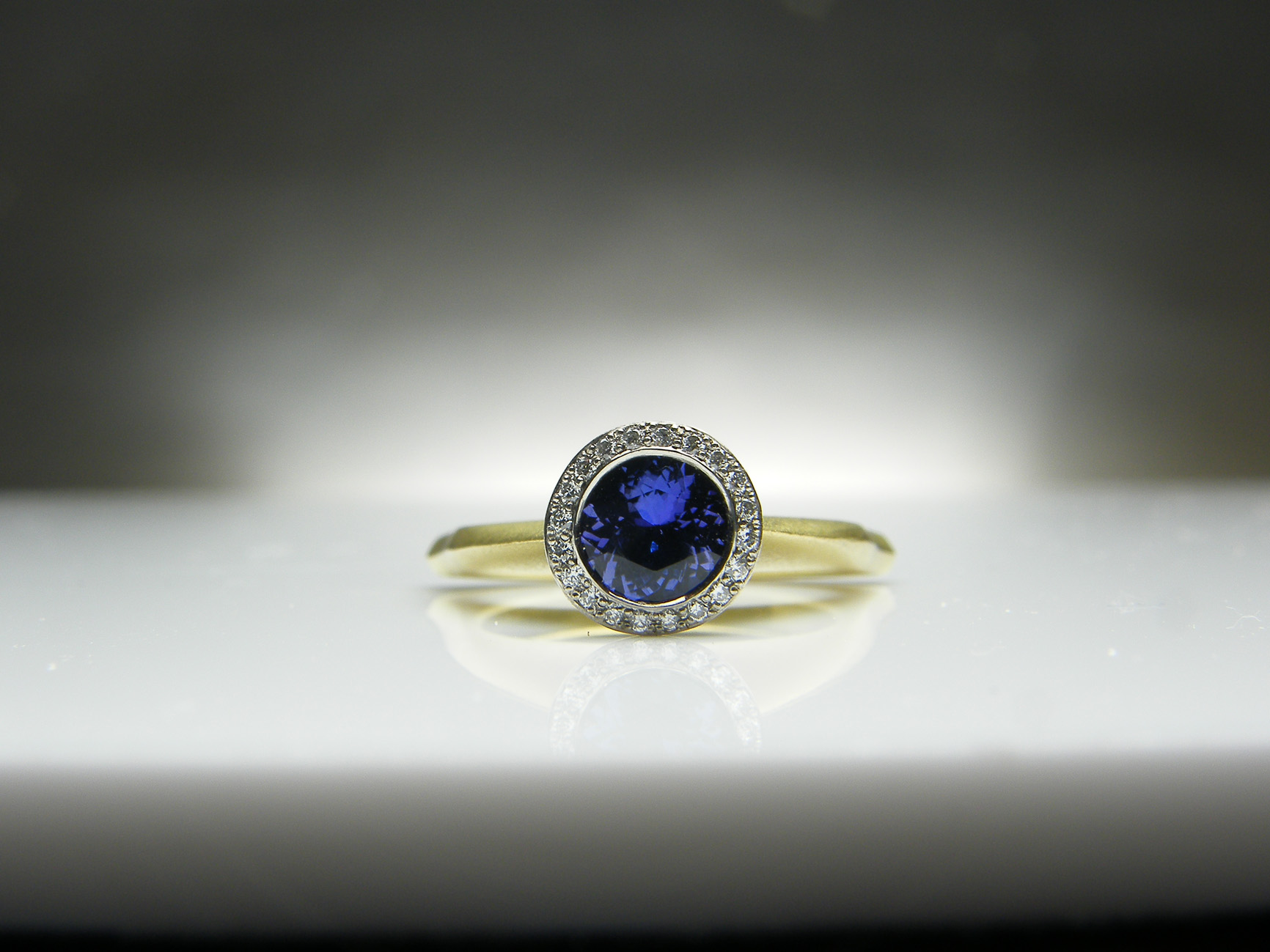 Julia Tanzanite & Diamond Ring