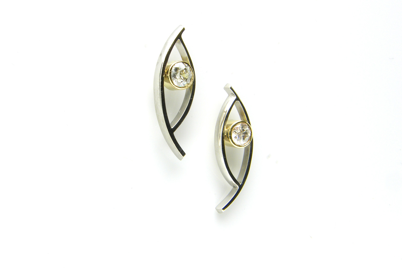 Palladium & Diamond Studs
