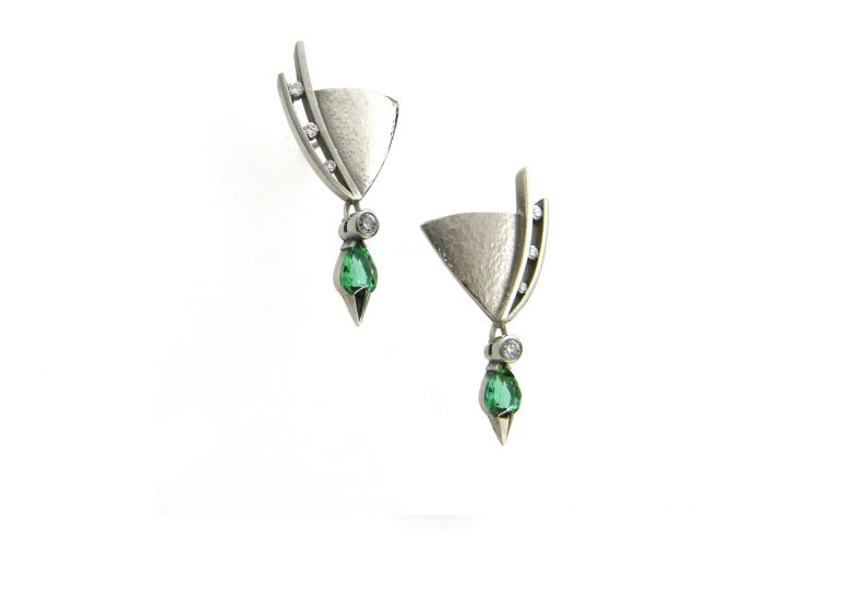 Juno Green Tourmaline Earrings