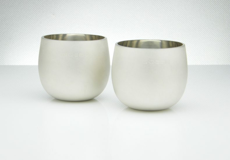 Satin Silver Whiskey Tumblers